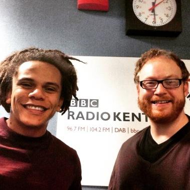 With Dominic at the BBC Radio Kent studio :-)